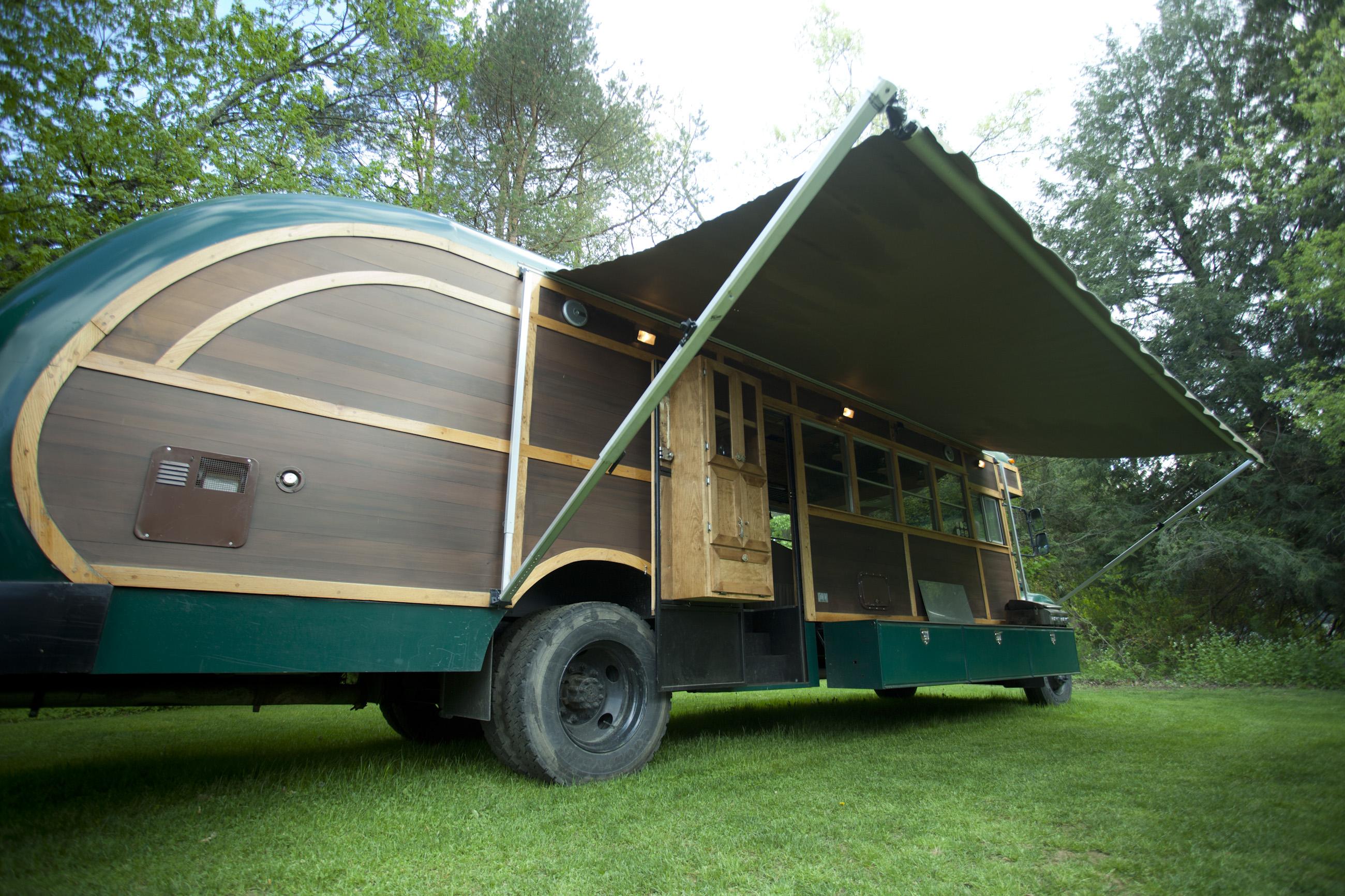 Teardrop Trailer Floor Plans Converted School Bus Camper David Dillon Llc